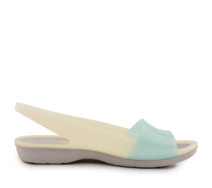 sandały Crocs Colorblock Flat W Sea Foam/White 200032-476