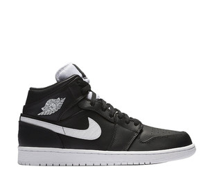 buty Air Jordan 1 Mid Black/White 554724 038