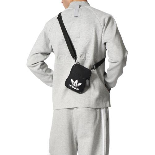 5ff2efa5c2f1d mała czarna torebka saszetka adidas Trefoil Festival Bag BK6730 ...