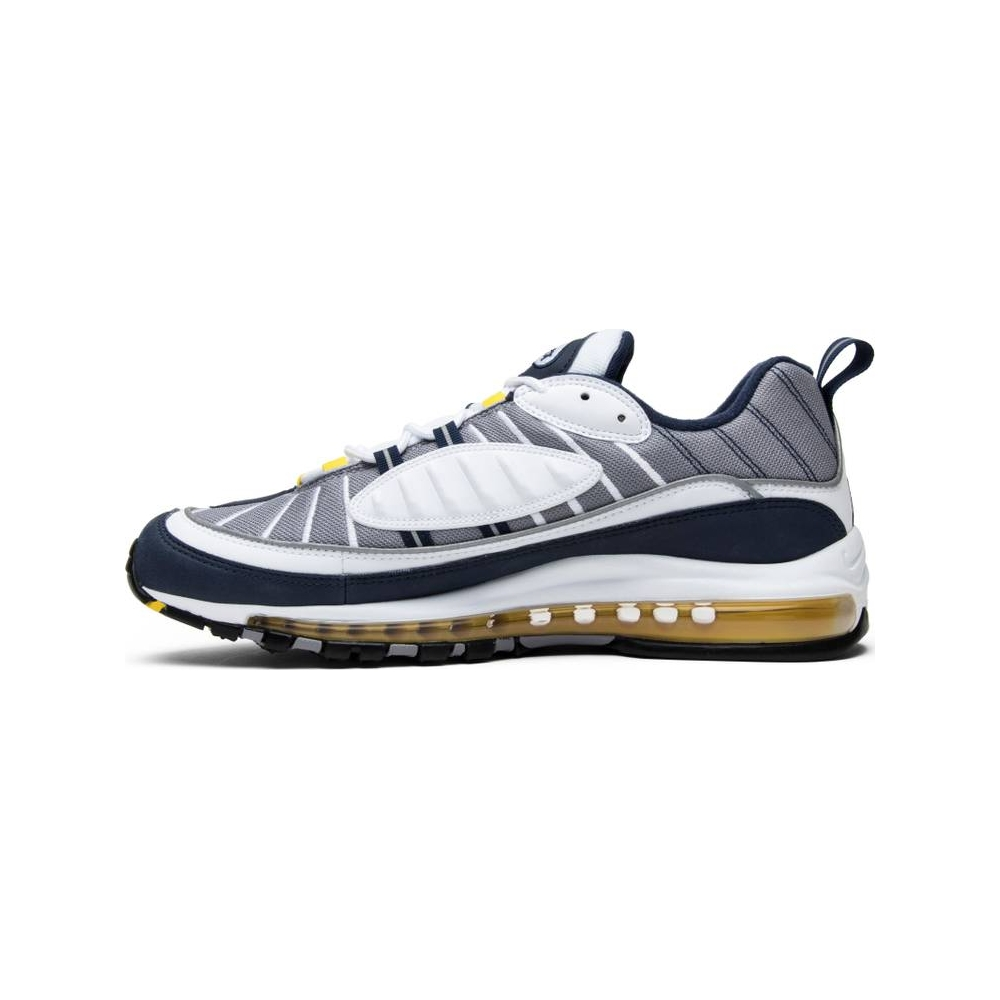 Nike Air Max 98 White Navy Yellow 640744 105 Release Date