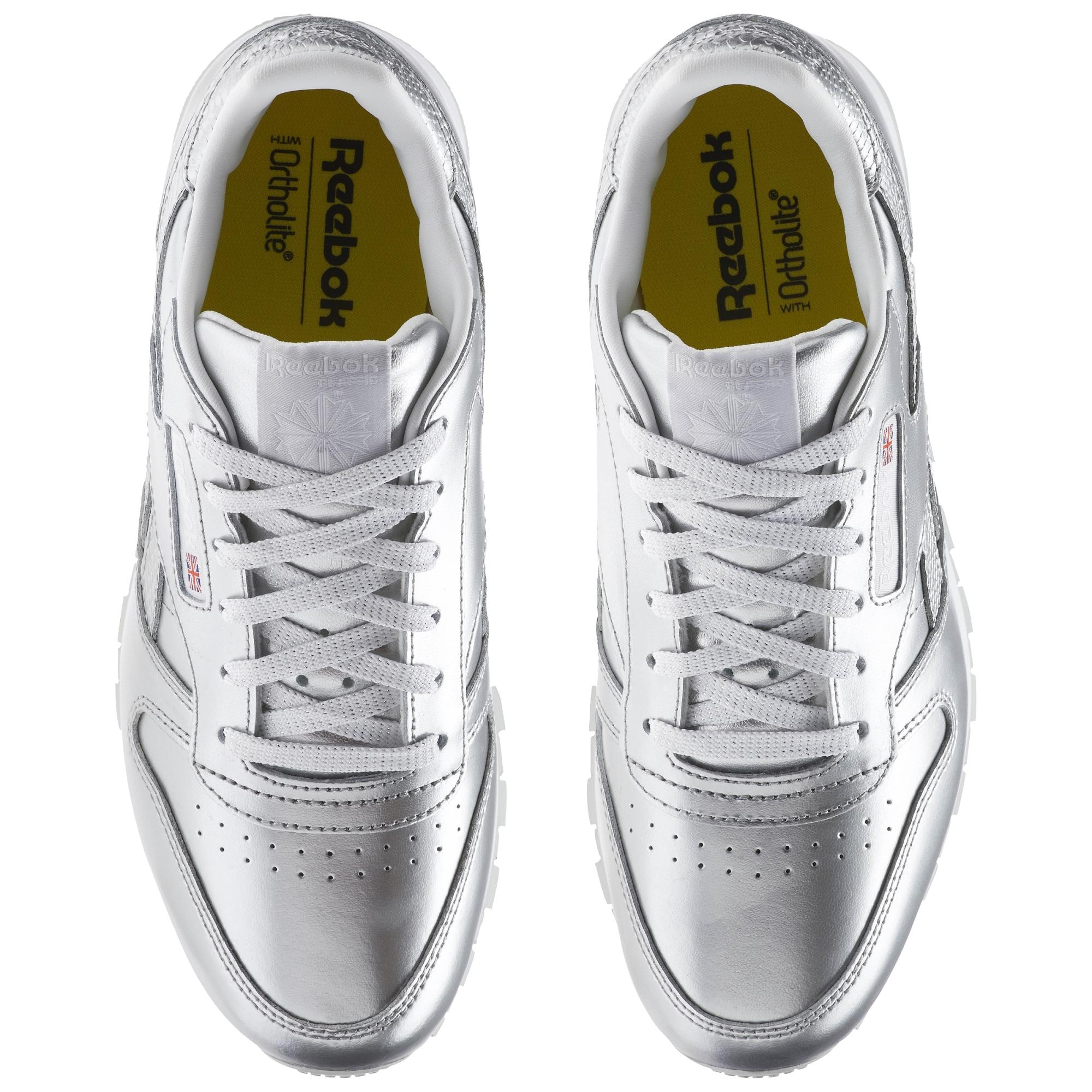 Reebok Classic Buty Reebook Classic Buty sportowe damskie srebrne w