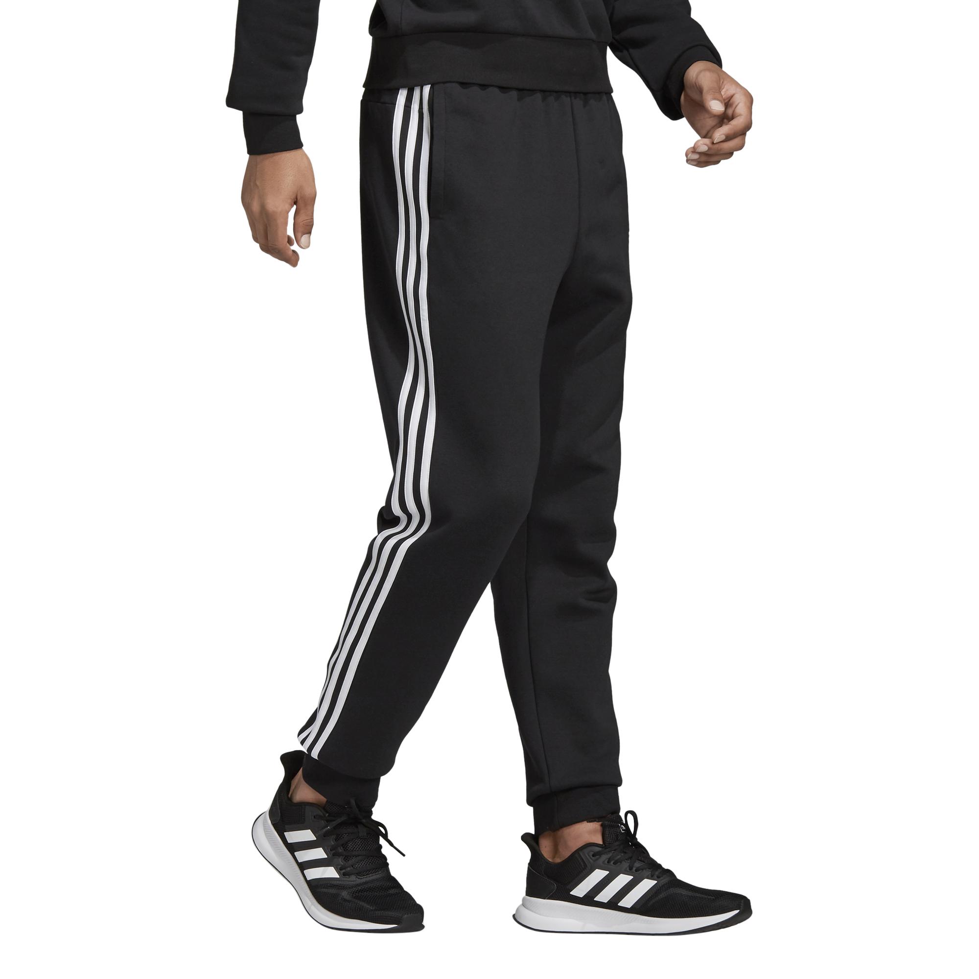 spodnie adidas Essentials 3 Stripes Tapered Pant FL Cuffed DQ3095