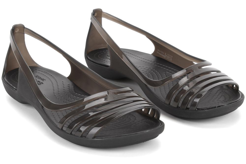 sandały crocs isabella huarache flat w 202463 black
