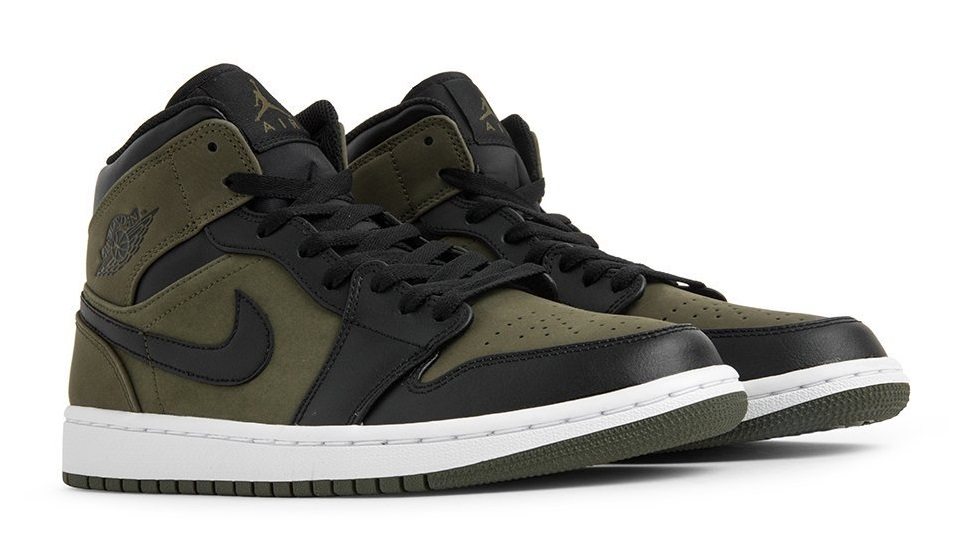 2018 sneakers arriving special for shoe Air Jordan 1 Mid Olive Canvas 554724 301