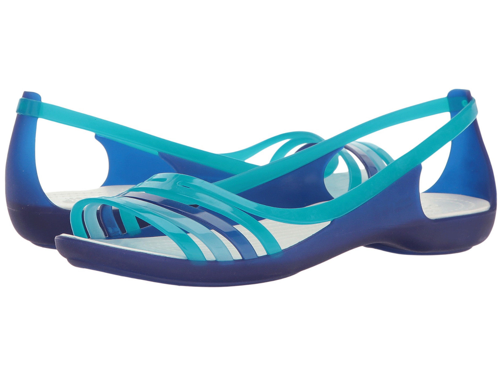 sandały Crocs Isabella Huarache Flat W Cerulean Blue 202463 4O7